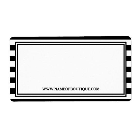 Trendy Black White Stripes Hair Salon Website