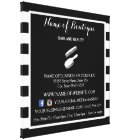 Trendy Black White Stripes Salon Information Sign