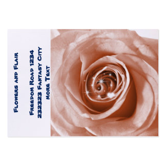 trendy bling on rose pack of chubby business cards