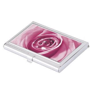 Trendy bling on rose business card holder