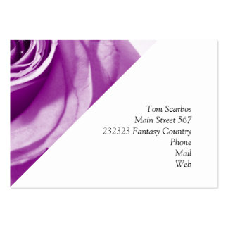 trendy bling on rose,lilac (I) Pack Of Chubby Business Cards