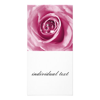 Trendy bling on rose picture card