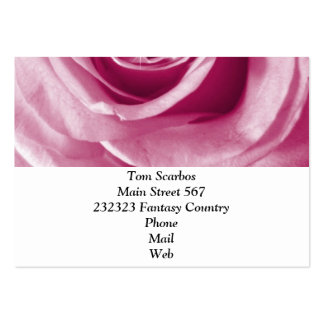 trendy bling on rose,pink (I) Pack Of Chubby Business Cards