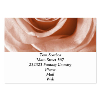 trendy bling on rose,soft peach (I) Pack Of Chubby Business Cards
