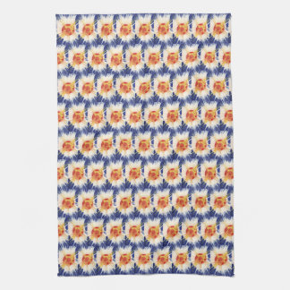 Trendy blue and red Tea Towel 40.6 cm x 61 cm