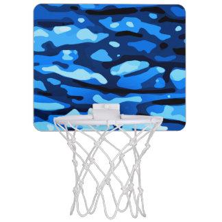Trendy Blue Camo Abstract Pattern Mini Basketball Hoop