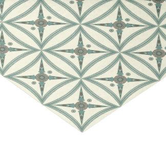 Trendy Blue Geometric Square Mesopotamian Motif Tissue Paper