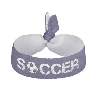 Trendy Blue Soccer Ball Volleyball Hair Tie