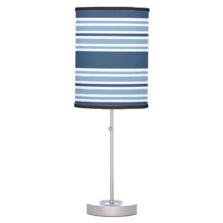 Trendy Blue Striped Desk Lamp