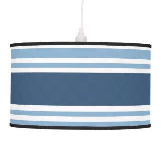 Trendy Blue Striped Hanging Lamp