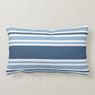 Trendy Blue Striped Pillows