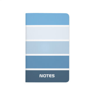 Trendy Blue Striped Pocket Journal