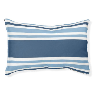 Trendy Blue Striped Small Dog Bed