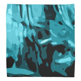 Trendy Blue Teal Aqua Camo Pattern Bandana