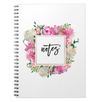 Trendy Bohemian Floral Notebook
