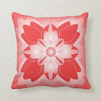Trendy Bold Flower Design -Red Pillows