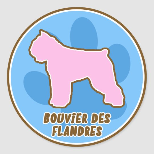 Trendy Bouvier des Flandres Stickers