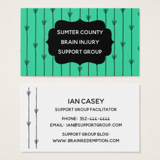 Trendy Brain Injury Support Group Networking Card