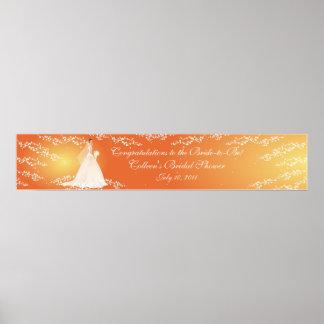 Trendy Bridal Shower Banner Poster