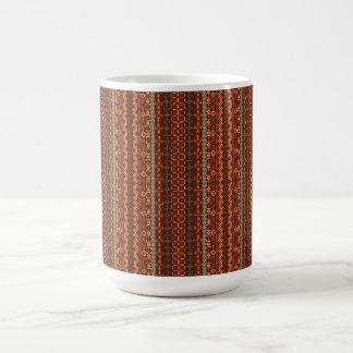 Trendy Brown and Orange Chevron Aztec Coffee Mug