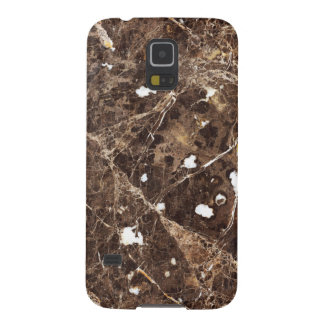 Trendy Brown And White Marble Stone Pattern Cases For Galaxy S5