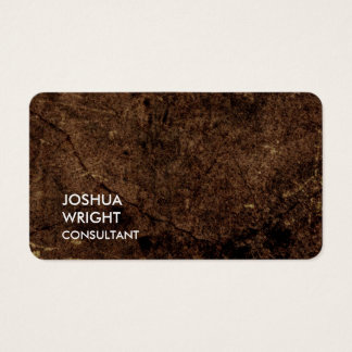 Trendy Brown Attractive Plain Chic Business Card