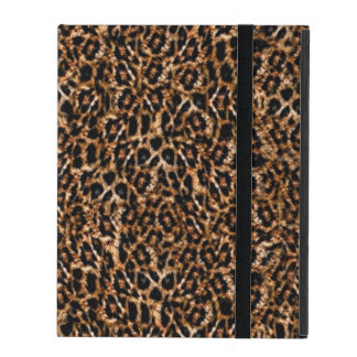 Trendy Brown Exotic Fur Pattern Leopard Print iPad Case