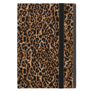 Trendy Brown Exotic Fur Pattern Leopard Print iPad Mini Cases