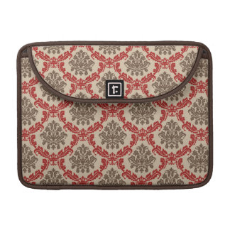 Trendy Brown Vintage Damask MacBook Pro Sleeve