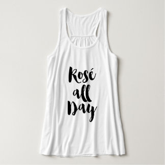 """Trendy Brush Typography """"Rosé all Day"""" Tank Top"""
