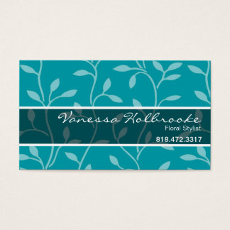 Trendy Bud Vines Business Card template