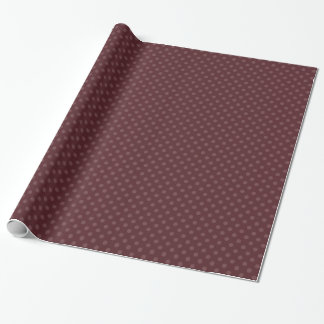 Trendy Burgundy Polka Dot Wrapping Paper