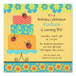 Trendy Cake Birthday Invitation