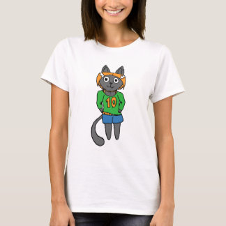 Trendy Cat Cute Cartoon T-Shirt