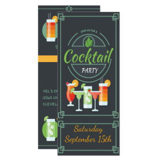 Trendy Chalkboard Cocktail Party Invitation