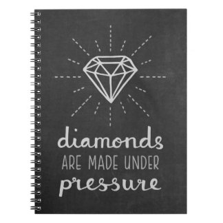Trendy Chalkboard Pressure make Diamonds Notebook