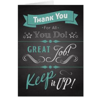 Trendy Chalkboard Thank You Card in Appreciation