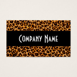 Trendy Cheetah Skin Business Card