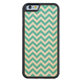 Trendy Chevron Carved iPhone 6 Bumper Wood Case