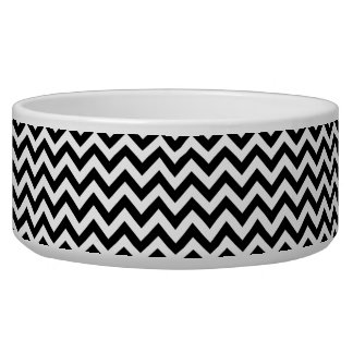 Trendy Chevron Dog Bowl