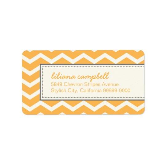 Trendy Chevron Pattern Avery Address Label