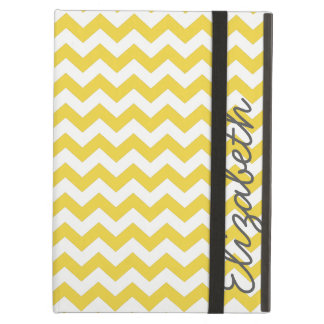 Trendy Chevron Pattern in Gray and Yellow iPad Air Case