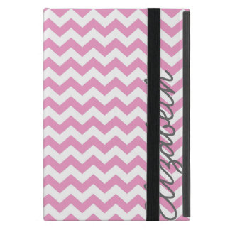Trendy Chevron Pattern in Pink and Gray iPad Mini Covers