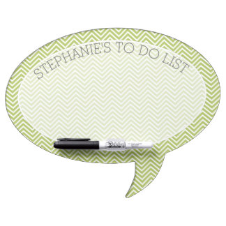 Trendy Chevron Pattern with Custom Name To Do List Dry Erase Board