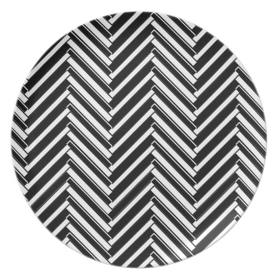 Trendy chevron patterned plate