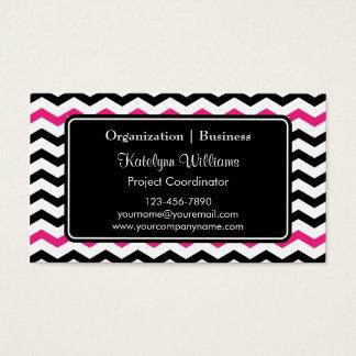 Trendy Chevron Zigzag Pattern Business Cards