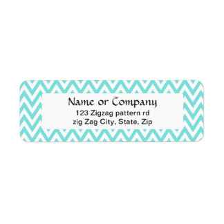 Trendy chic aqua blue chevron zigzag pattern