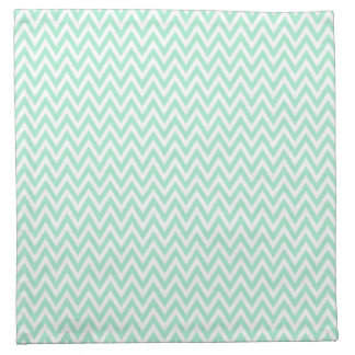 Trendy chic mint green chevron zigzag pattern napkin