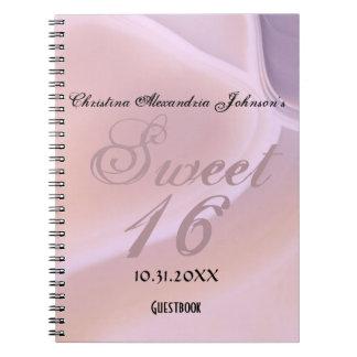 Trendy Chic Soft Purple Gemstone Sweet 16 Birthday Notebooks