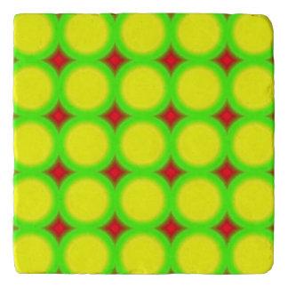 trendy circle abstract pattern trivet